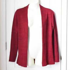 EUC Maurices Red Heathered Ribbed Cardigan